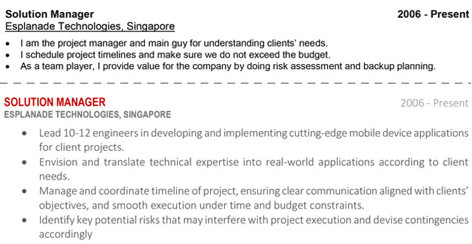 How To Write A Resume Singapore Edition Resumewriter Sg