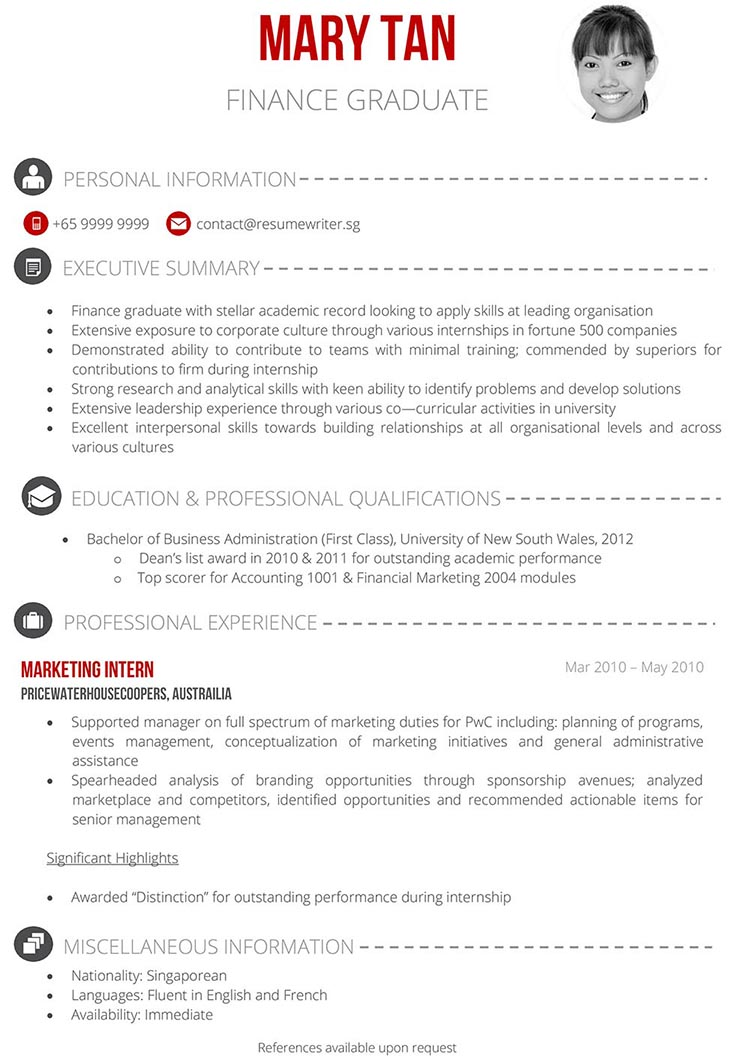 Things a fresh grad in singapore should write his her resume heres a fresh graduate sample resume resumewriter recently produced httpsresumewriterwp contentuploads201501new freshgrad750g thecheapjerseys Gallery