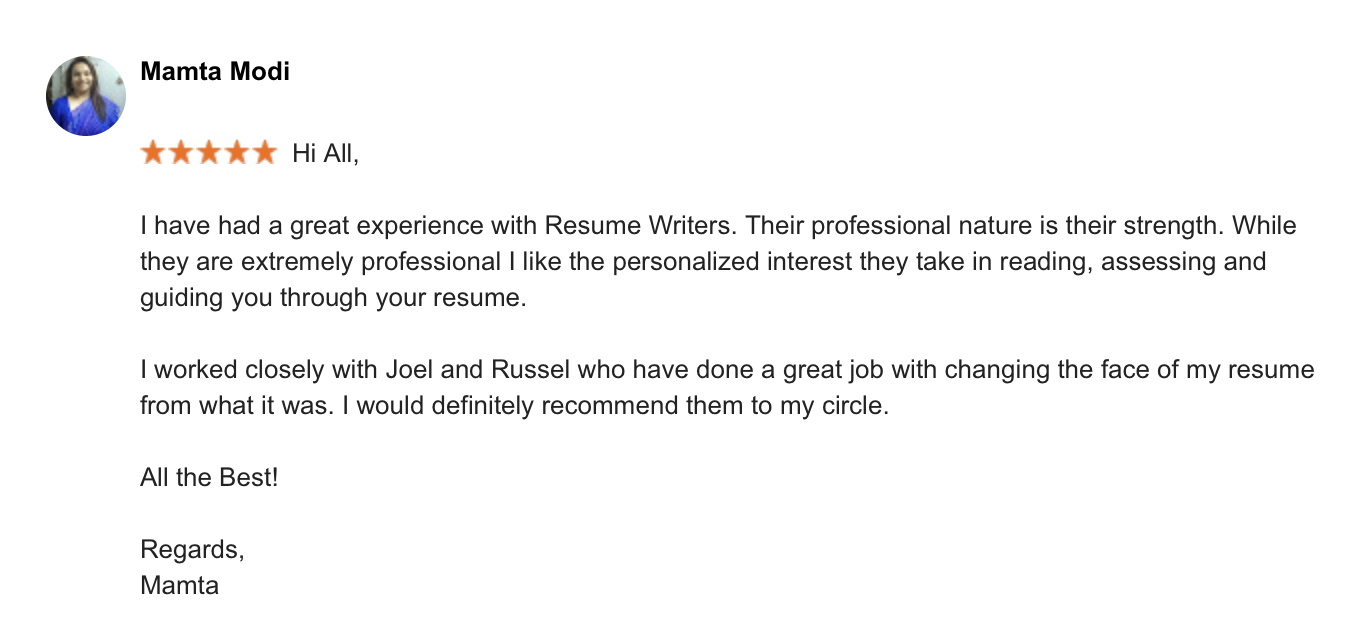 Resume Writing Singapore Demirediffusion