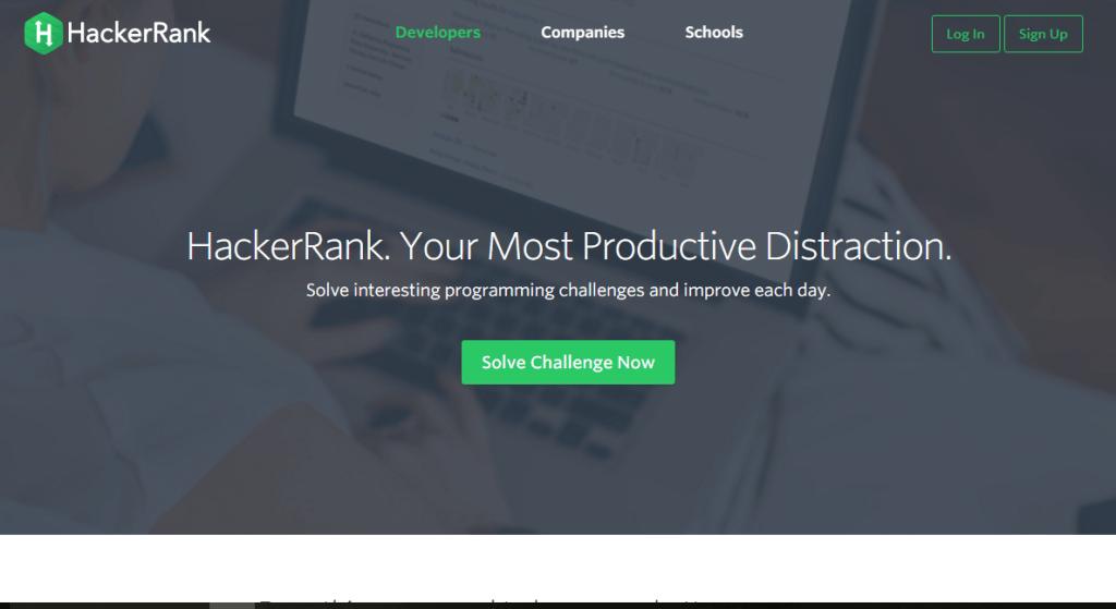HackerRank home page